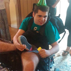 Matthew celebrating being 21!
