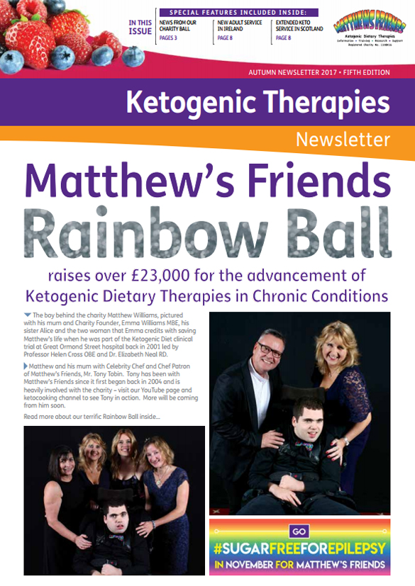 Matthew's Friends Ketogenic Dietary Therapies Autumn 2017